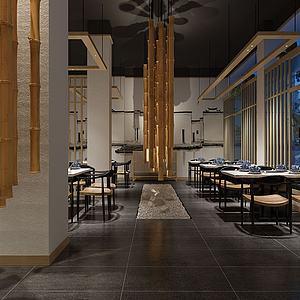 日本料理日式餐廳模型3d模型