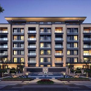 新中式住宅洋房模型3d模型