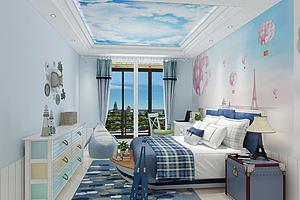 现代地中海儿童房