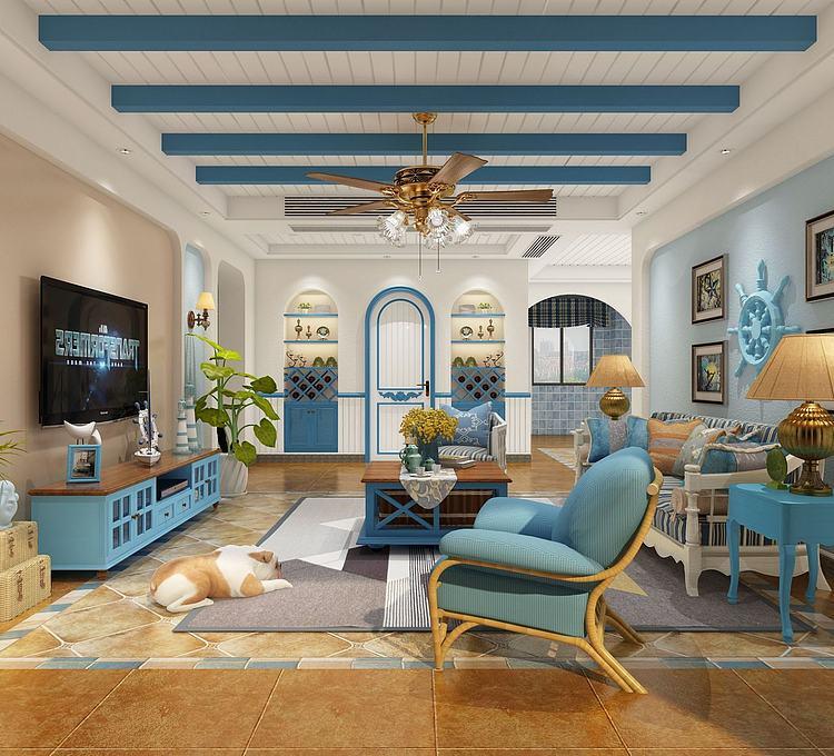 地中海式客厅