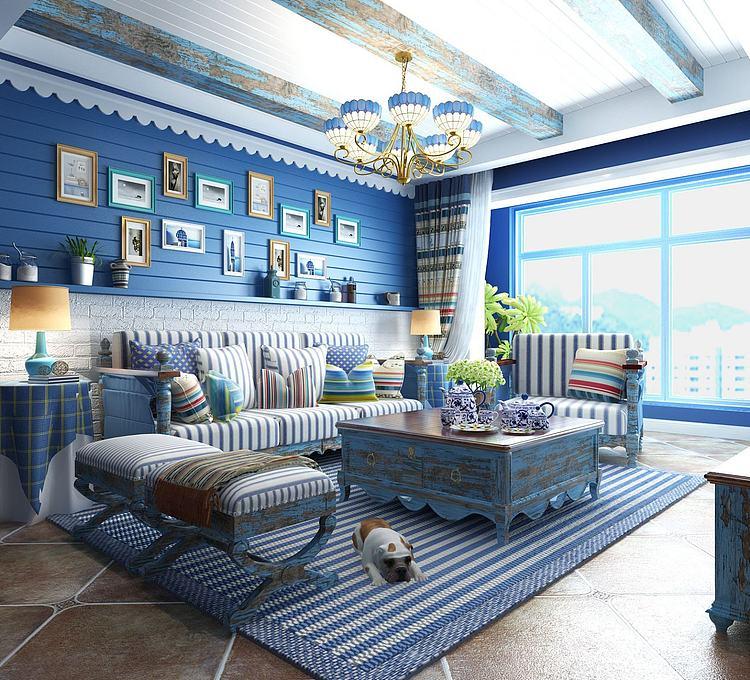 现代地中海式客厅