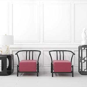 3d沙發茶幾組合模型