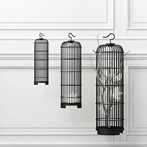 鳥籠組合模型3d模型