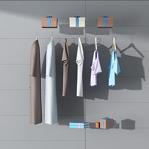 3d服装服饰组合模型