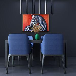 簡約桌椅3d模型