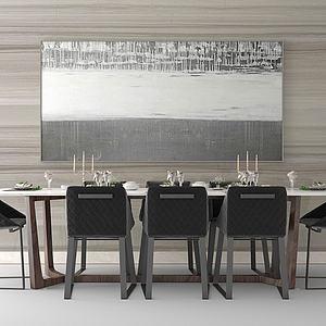 現代餐桌椅3d模型