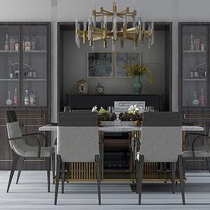 餐桌椅模型3d模型