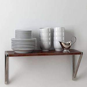 菜碟碗组合模型
