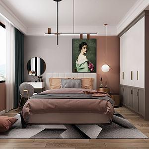 現代北歐臥室模型3d模型