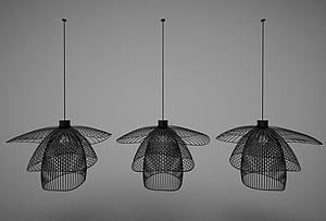 3d新中式風格吊燈模型