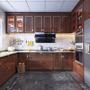 新中式廚房3d模型
