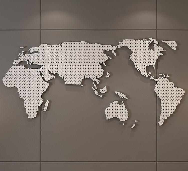 现代地图墙饰