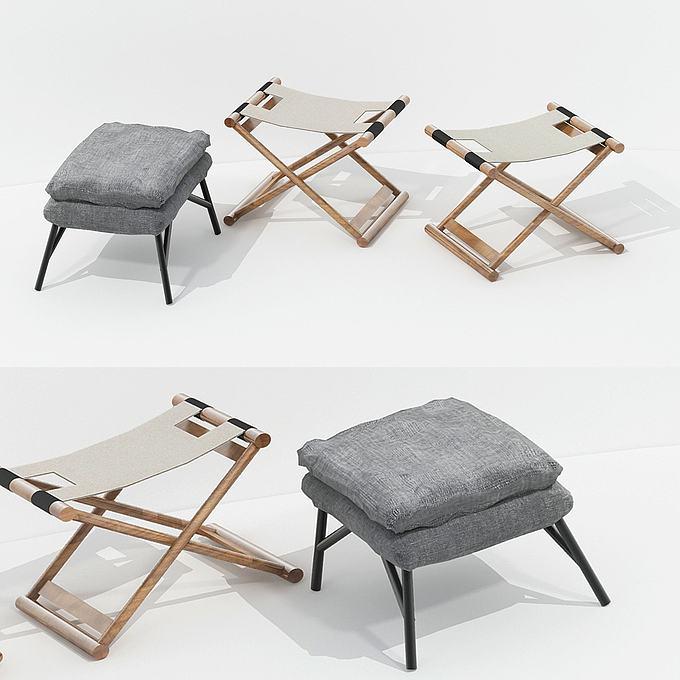 现代凳子模型