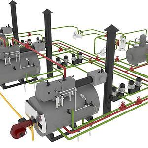 鍋爐3d模型