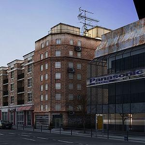 临街建筑3d模型
