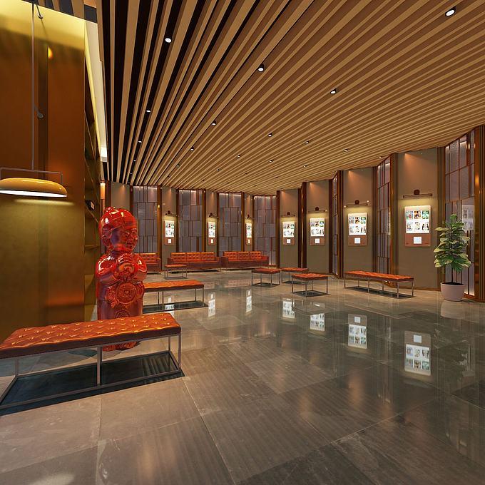 现代风格展厅模型