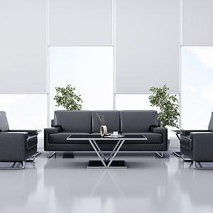沙發茶幾組合3d模型