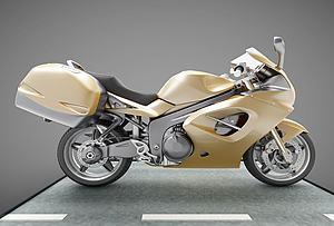 現代摩托車模型3d模型