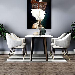 3d餐桌椅模型