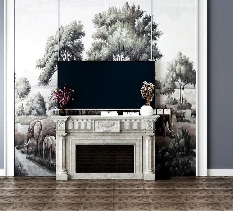 现代电视背景墙