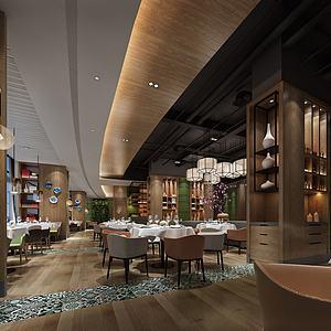 茶餐廳模型3d模型