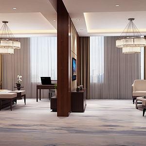 现代酒店套房3d模型