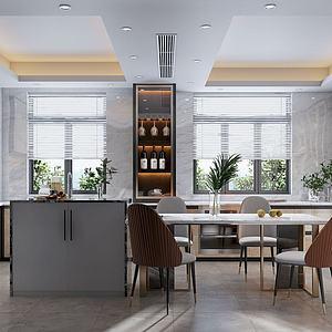 3d現代廚房模型