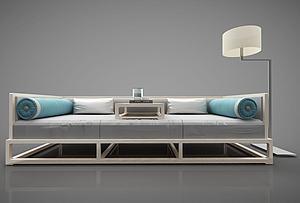 现代简约三人沙发模型3d模型