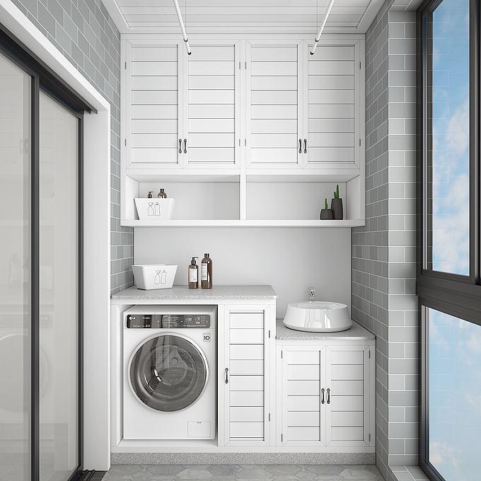 阳台洗衣房模型