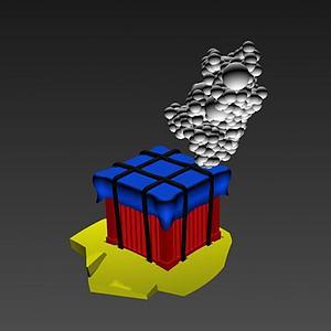 吃鸡空投箱模型3d模型