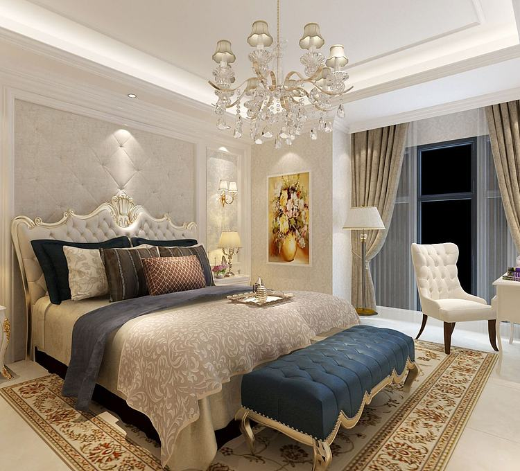 现代欧式卧室