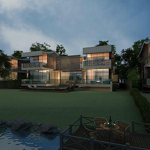 別墅景觀模型3d模型