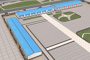工厂场景模型模型