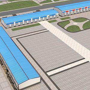 工厂场景模型3d模型