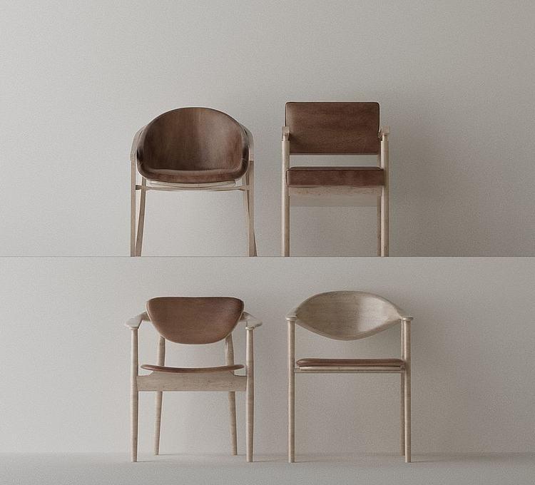 北欧椅子组合