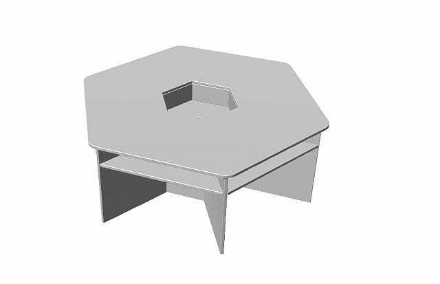 六边形桌子