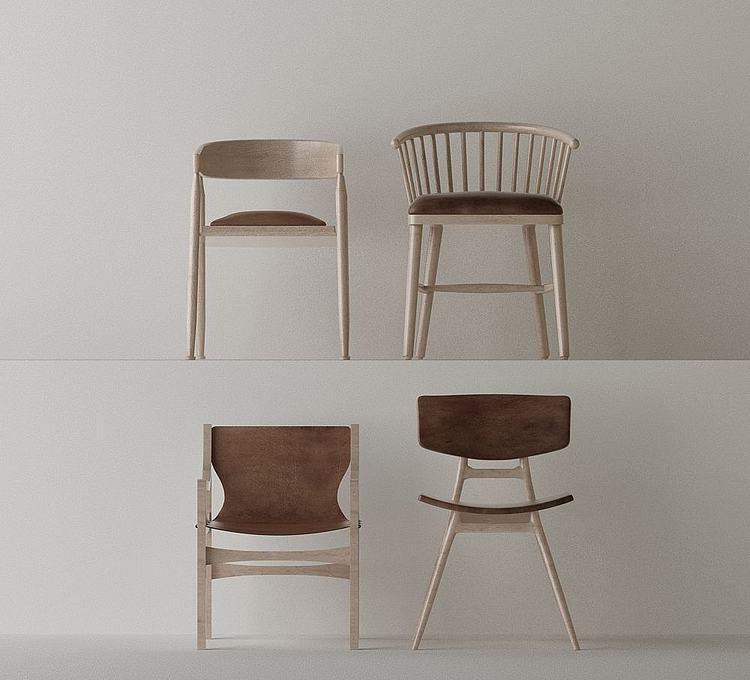 简约北欧椅子