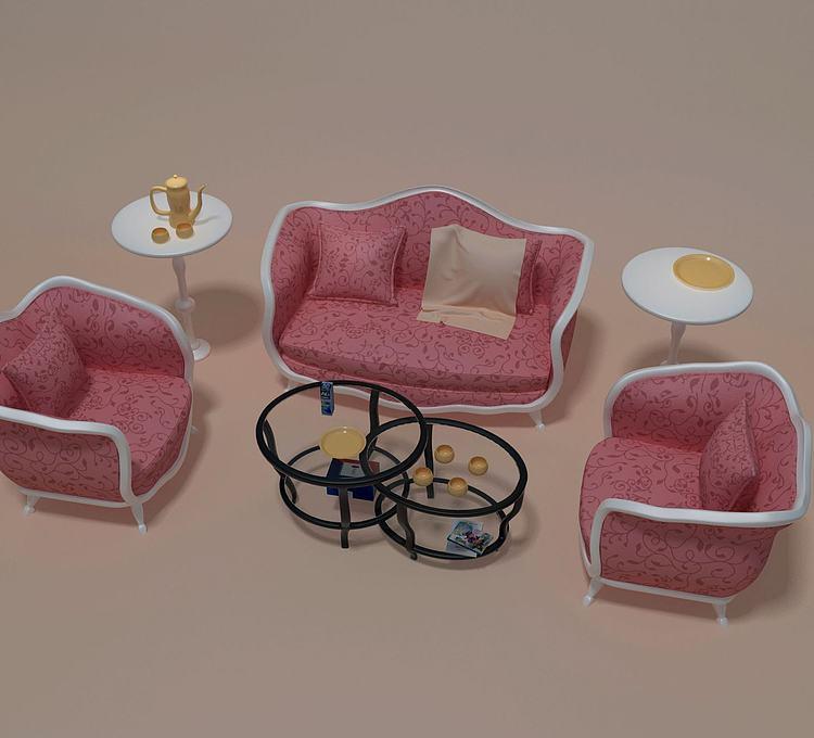 简欧沙发组合
