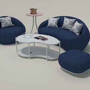 3d异形沙发组合模型