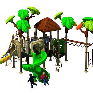 3d儿童滑梯模型