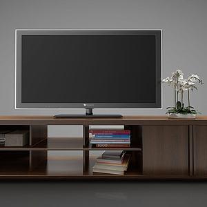 新中式风格电视柜3d模型