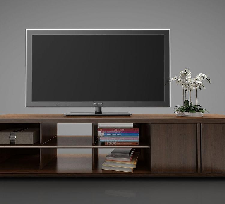 新中式风格电视柜模型