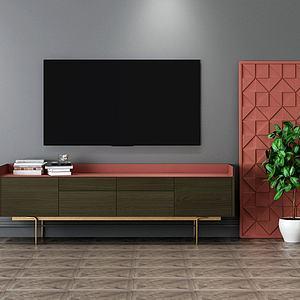 现代电视柜模型3d模型
