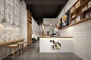 奶茶店咖啡店饮料店模型模型