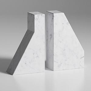 大理石书架摆件装饰模型3d模型