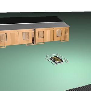 姓氏臥碑景區建筑模型3d模型