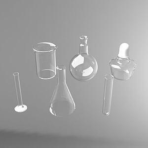 實驗工具燒杯量杯3d模型