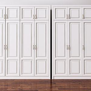 歐式雙開門衣柜模型