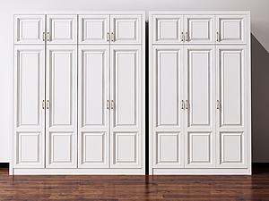 欧式双开门衣柜模型3d模型