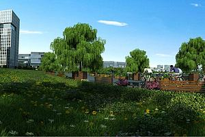 城市规划景观模型模型